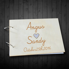Exquisite Rustic Wedding Guest Book font b Personalized b font Custom font b Wooden b font