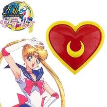 Бесплатная Доставка Сейлор Мун Кристалл Tsukino Усаги Сейлор Равномерное Луна сердце Грудной Аниме Косплей Аксессуары