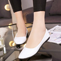 Plus size 35-41 Sping Autumn Women Shoes Candy Color Ballet Flats Pointed Toe Loafers Patent Leather White Wedding Shoes 2102