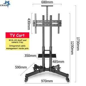 "Image 2 - Universal TV Cart Height Adjustable Mobile TV Trolley Stand for 32"" 65""LED LCD Plasma TV with Adjustable AV Shelf Camera Holder"