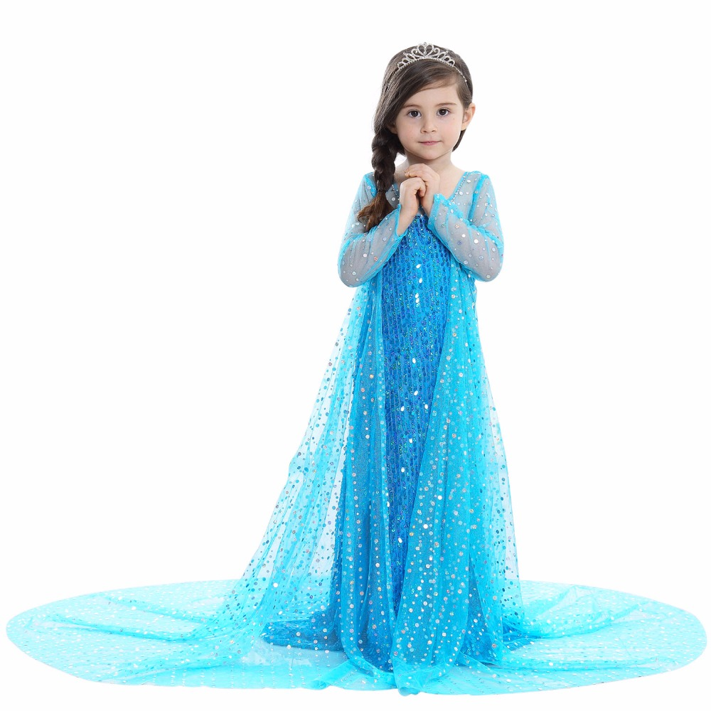 VASHEJIANG Girls Princess Elsa Dress up Costume Kids Princess Party ...