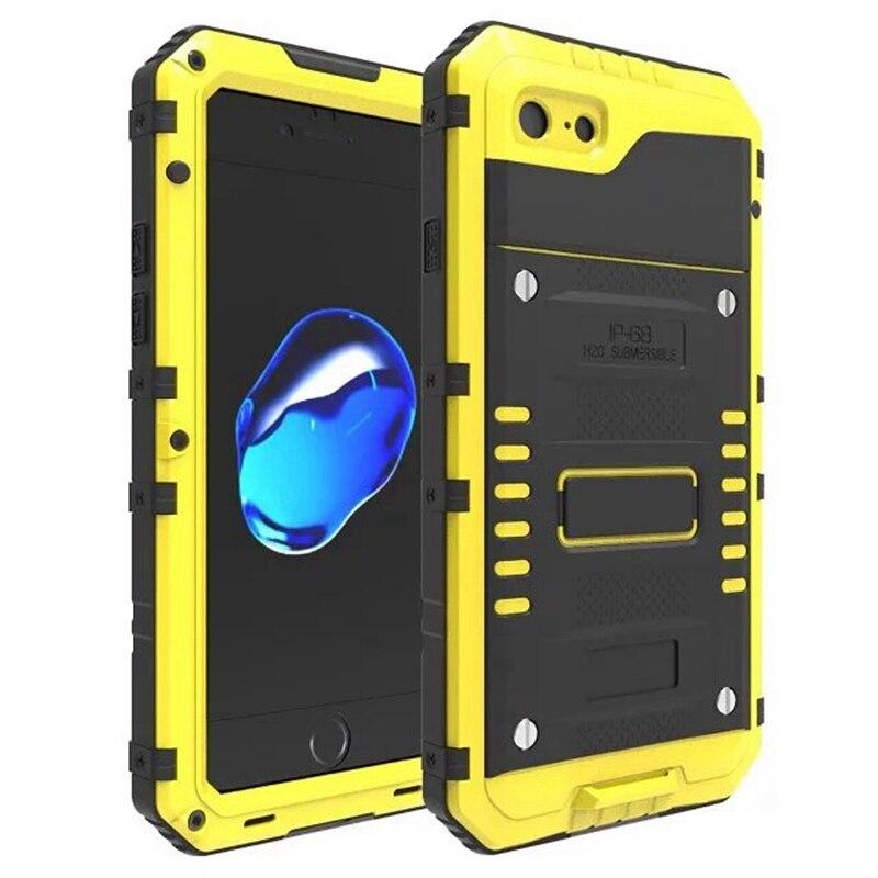 imágenes para MaiMoke Nueva Para el iphone 7 Caso A Prueba de agua Al Aire Libre Deportes Para iphone 6 Caja de Metal de Aleación de 6 S 6 7 Más 7 Más Casos de Teléfono Móvil