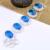 Belas Jóias Topázio Azul Cintilante Sintético Pulseiras de Cristal Da Forma de Prata Banhado Pulseiras Para Senhora agradável Do Presente Do Feriado