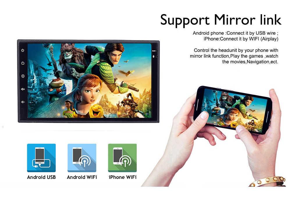 Dos Din 7 pulgadas Android 8,0 coche DVD reproductor Multimedia para Nissan/TIIDA/QASHQAI/X-TRAIL/soleado /Radio de navegación GPS Wifi de patrulla