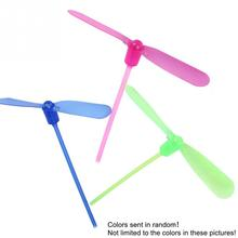 Children Flash Toys Creative Bamboo Dragonfly Flash Shine Hand Push Small Luminous Toys for Kids Gifts Random Color  1