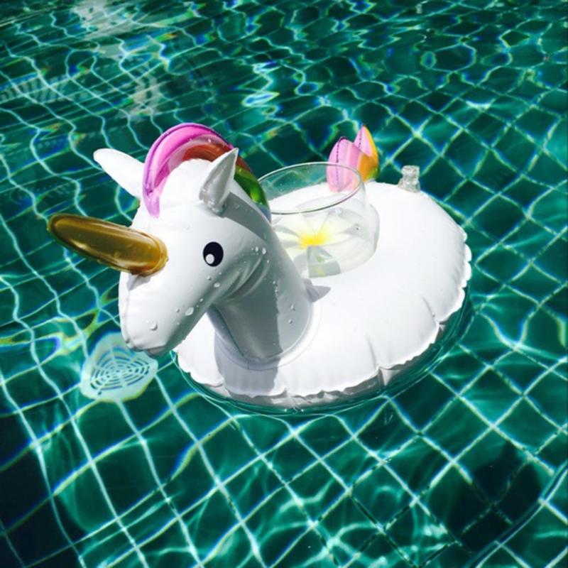 Animal Drink Cup Holder Floating Inflatable Pool Cell Phone Stand Holder Bath Toy for Kids Swimming Party Decoration