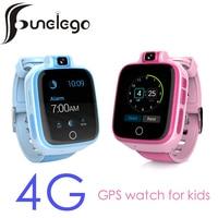 Funelego 4 г Смарт часы для малыша совместимость 2 г 3g сим карты с gps местоположение трекера смотреть ребенка телефон водонепроницаемый Multi Язык