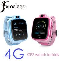Funelego 4G Смарт часы для малыша совместимость 2G 3g сим карты с gps местоположение трекера ребенка телефон смотреть Водонепроницаемый Multi Язык