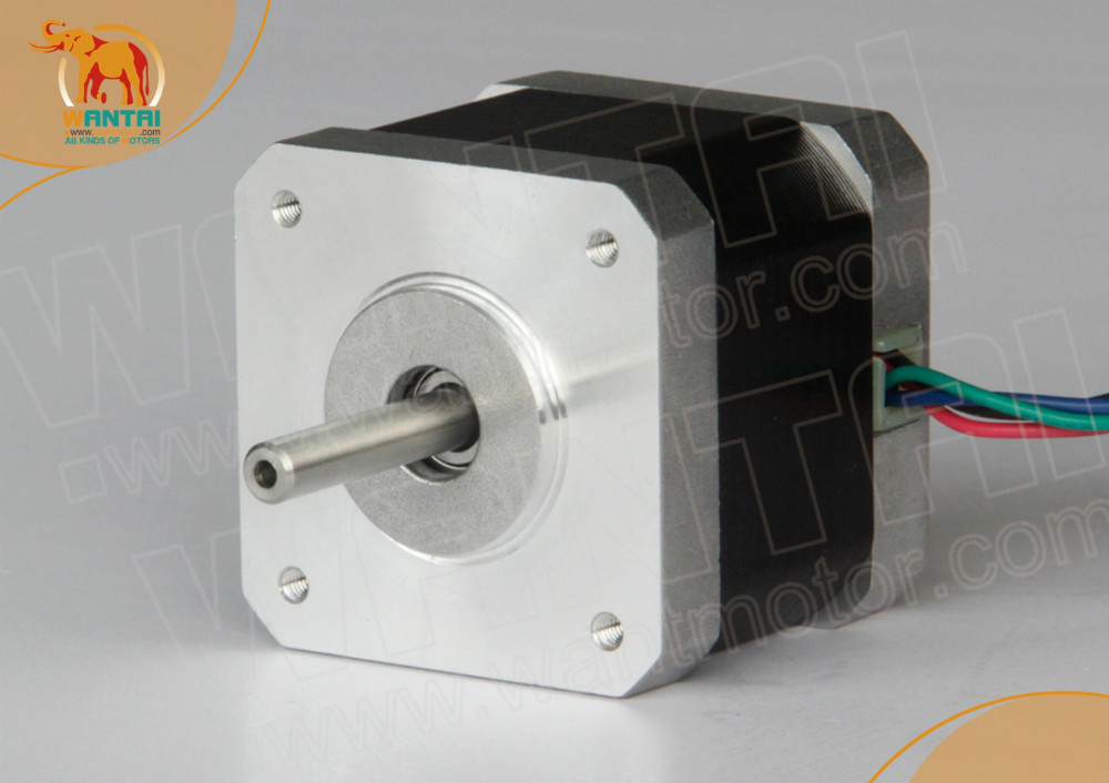 Promotion!!! 4-Leads Nema 17 Stepper Motor 70OZ-IN,2.5A, 2phases CNC wantai 42BYGHW811 3D Reprap/Makerbot Printer 3axis nema 17 stepper motor 70oz in