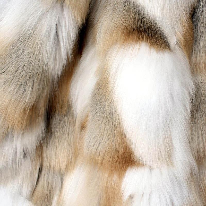 Chaud Tendance blanc Capuchon De Doublure c3 c2 Big Outwear Mode Meilleure Renard À Femmes Hiver Manteaux Qualité Fourrure Femme Épais Naturel C1 Real Vestes wSpaWtqx