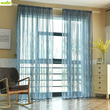 ФОТО dekop modern floral voile curtains tulle curtains for windows living room sheer curtains bedroom tulle kitchen curtains white