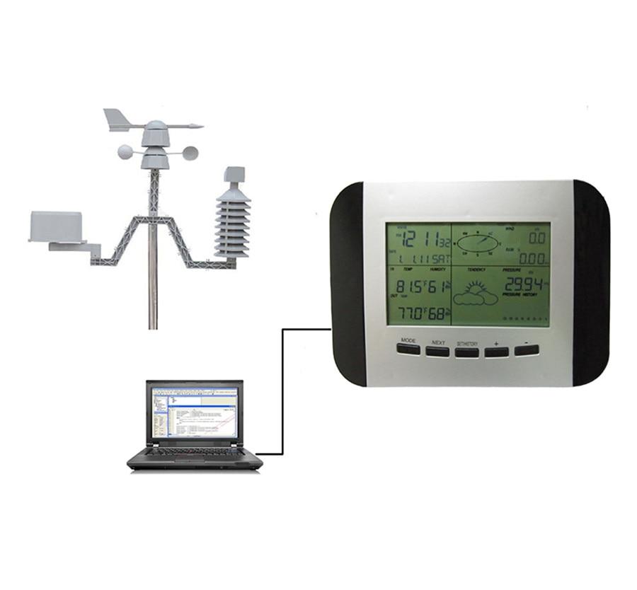 WS1041 Professionnel Station Météo Thermomètre Humidité Pluie Pression Enregistreur de Données avec Interface PC