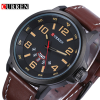 2015 Famous Brand New Man Military Army Leather Strap Clock Male Casual Business Quartz Wrist Watch