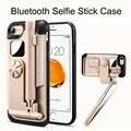 Bluetooth selfie stick cubierta cajas del teléfono para iphone 7 con espejo de coque cubierta para iphone 7 7 plus case armor case para iphone 7