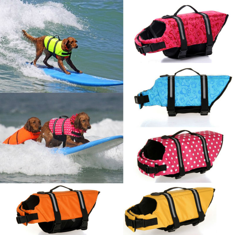 Pet Dog Life Jacket Safety Clothes for Pet Life Vest Summer Clothes Saver Swimming Preserver Swimwear Large Dog Life Jacket 27S2
