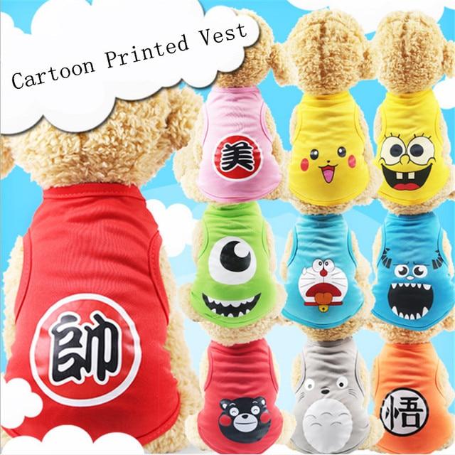 Clothing Dogs Cartoon Dog Summer T-SHIRT  My Pet World Store