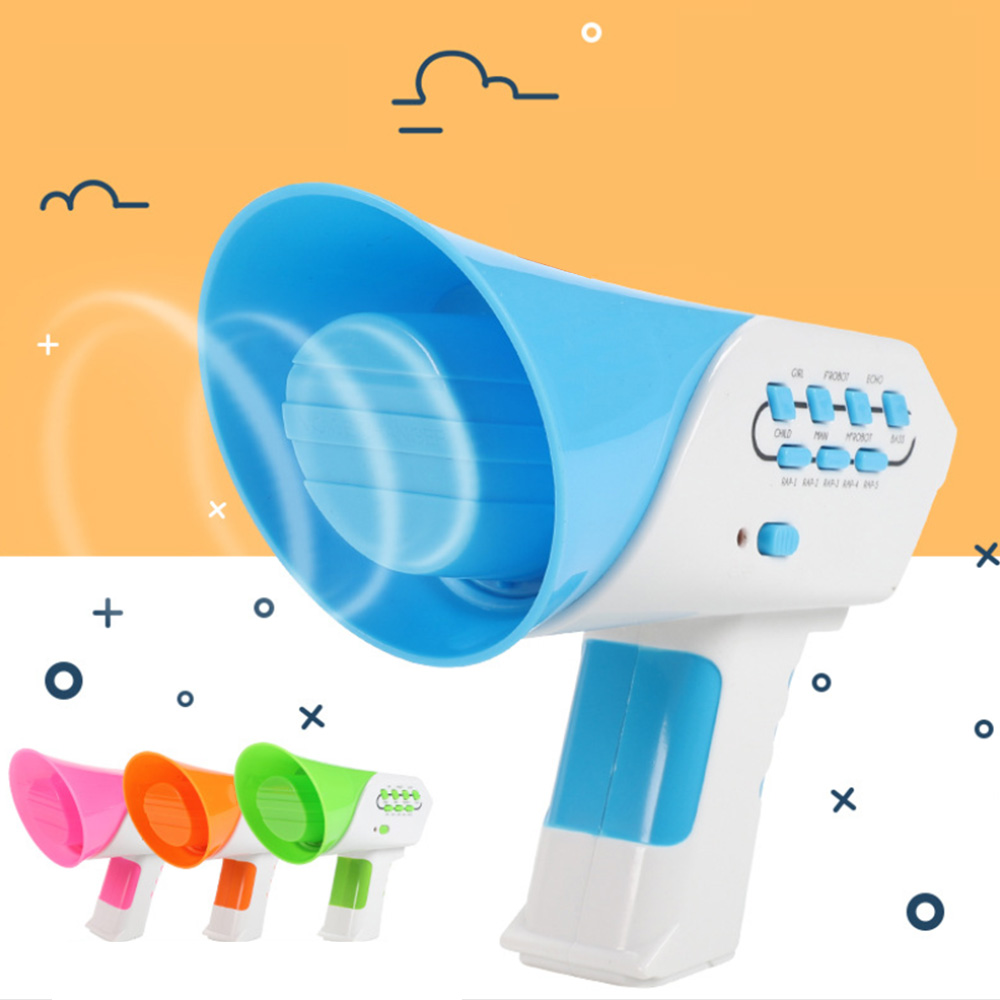 Mini Horn Girls Boys Voice Change Gifts  7 Voices 5 Music Voice Changer Horn Toy Robot Education Gadget Funny Children Toy