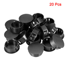 Uxcell 20pcs White/Black 24.7x11.4mm/20.1x10.1/19x10.2/9.5x10.3 Round Nylon Snap Locking Panel Hole Cover Insulation Protection