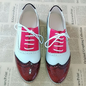 Image 2 - Womens Flats Oxford Shoes Woman Genuine Leather Sneakers Ladies Brogues Vintage Casual Oxfords Shoes For Women Footwear