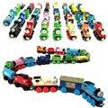 10 unids/lote thomas y sus amigos niños de dibujos animados de juguete de madera magnética trenes modelo great kids toys regalos de navidad para niños