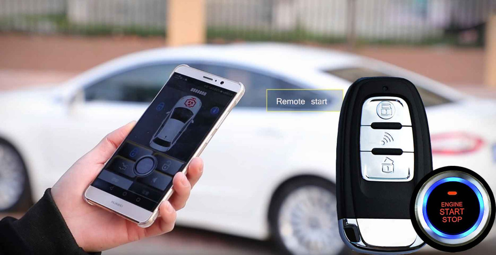 For Toyota PKE Car Security Alarm System With Mobile App Control Keyless Entry Auto Trunk Central Lock Door Fit Ios/Android