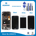 Negro para samsung galaxy s4 mini gt-i9195 i9190 i9192 para samsung s4 mini pantalla lcd pantalla táctil digitalizador asamblea con marco