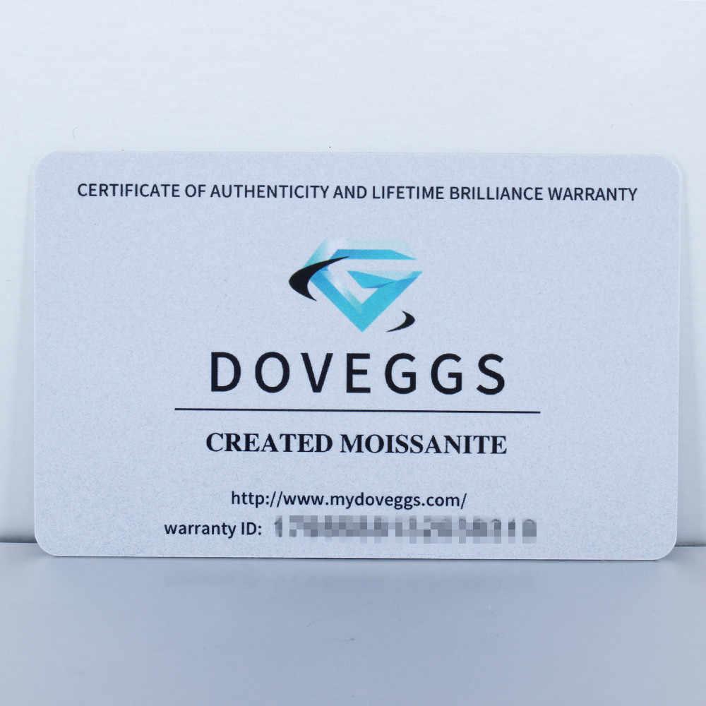 DovEggs Elegant แท้ 925 เงิน 3ct 3.5 มม.-4 มม.H-I สี Moissanite จี้ Choker สร้อยคอสำหรับผู้หญิง