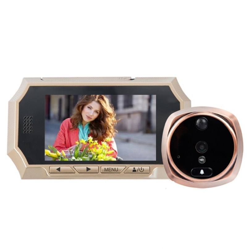 ФОТО 4.3 inch olho magico video porteiro IR Night vision PIR Motion Detection digital peephole Photos Taking Video Recording Max 32GB