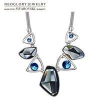Neoglory Austria Crystal Auden Rhinestone Pendant Necklace Elegant Geomeric Design Platinum Plated For Trendy 2015 Jewelry