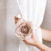 1pc Flower Curtains Tieback Magnet Buckle Magnetic Curtain Holder Strap Accessories