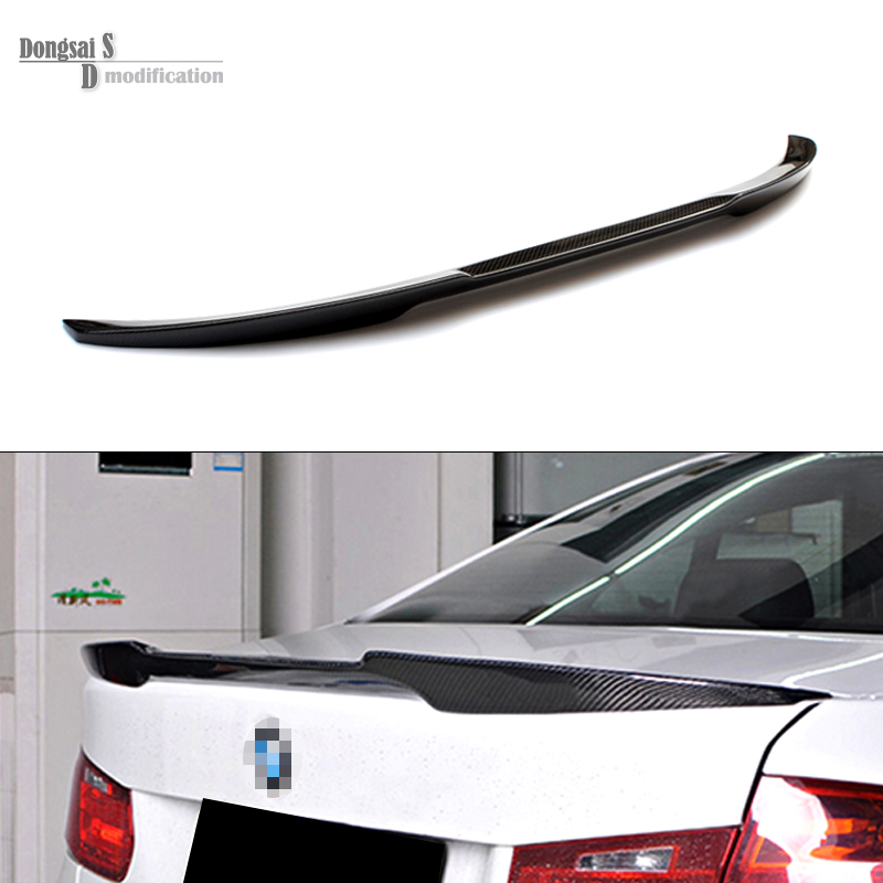 3 Series F30 M4 Style Carbon Fiber Gloss Black Rear Trunk Spoiler Wings Trunk Lip for