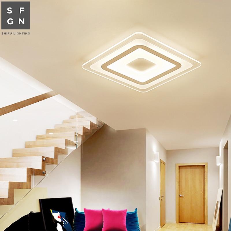 Oświetlenie sufitowe led nowoczesne lampy alejek oprawa oświetleniowa Foyer balkon powierzchni światła do domu lampa wewnętrzna