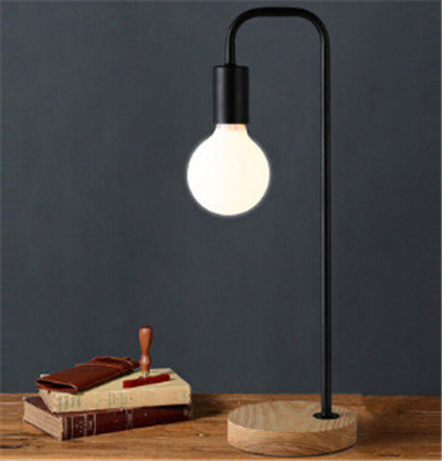 ФОТО Northern Europe modern brief desk reading lamp wood iron six color E27 bulb table lamp for reading/working eye-protective lamp