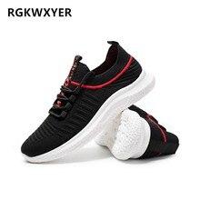 RGKWXYER New Mens Casual Shoes Mesh Running Leisure Joker Men Non-slip Breathable Wear-resistan Sports
