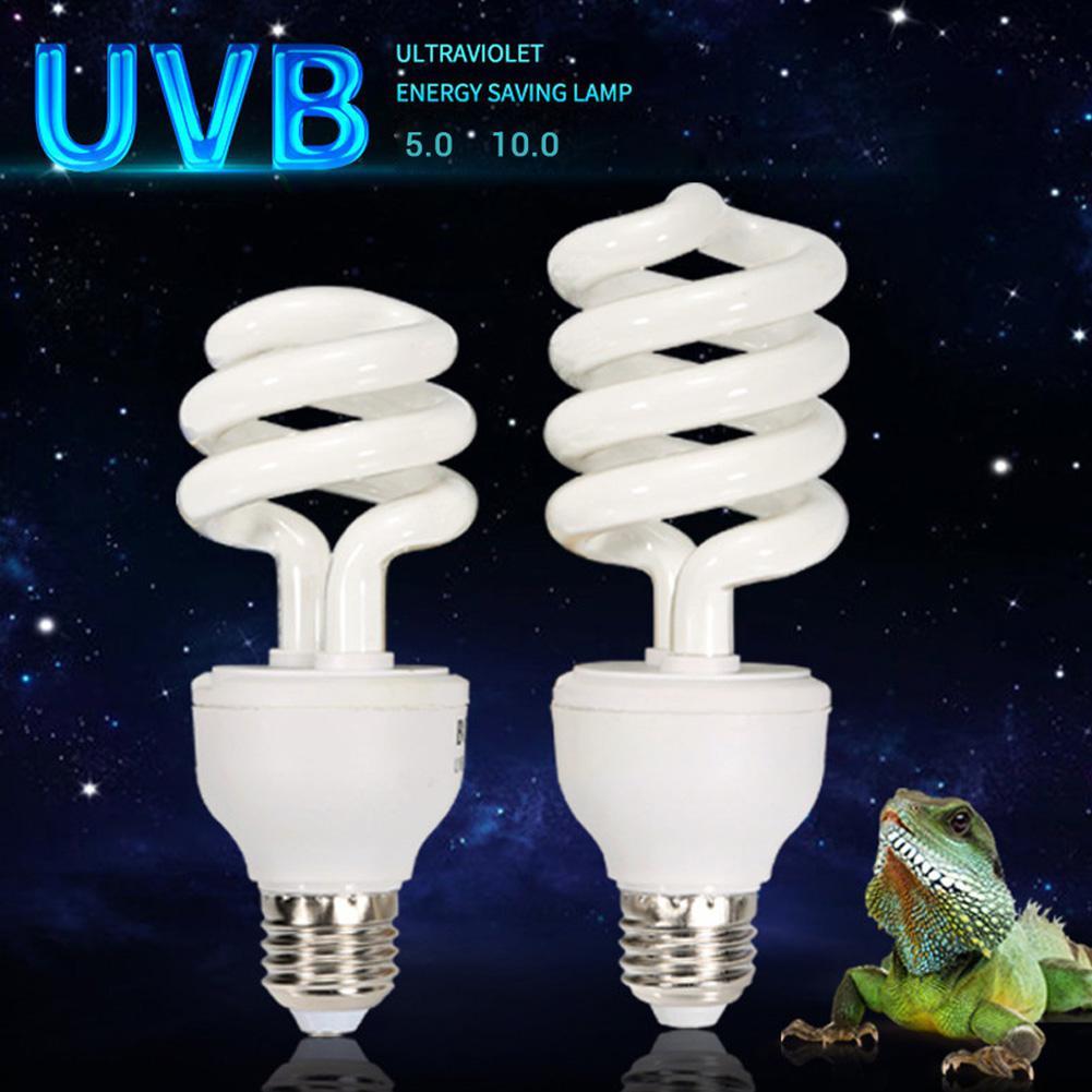 5.0 10.0 UVB 13W/26W Reptile Light Bulb UV Lamp Vivarium Terrarium Tortoise Turtle Snake Pet Heating Light Bulb 220v-240v
