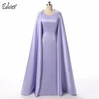 Elegante Lange Abendkleider 2017 Mantel Scoop Bodenlangen Perlen Kristall Mantel Blau Arabisch Formale Prom Abendkleider