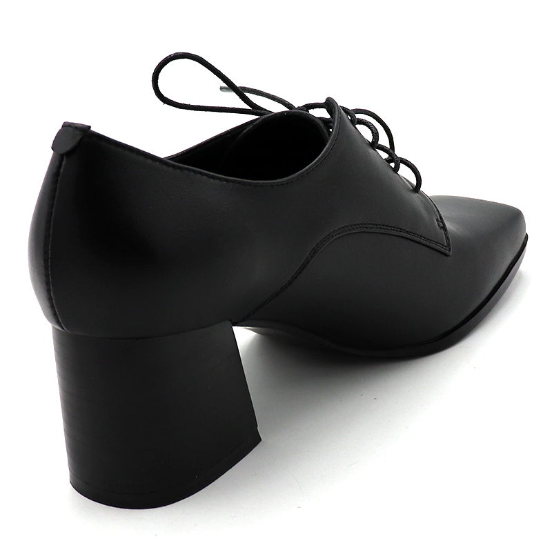 ENMAYER/весенние туфли на высоком каблуке Женская повседневная обувь на квадратном каблуке и платформе с квадратным носком однотонные женские туфли на шнуровке для свиданий - 4