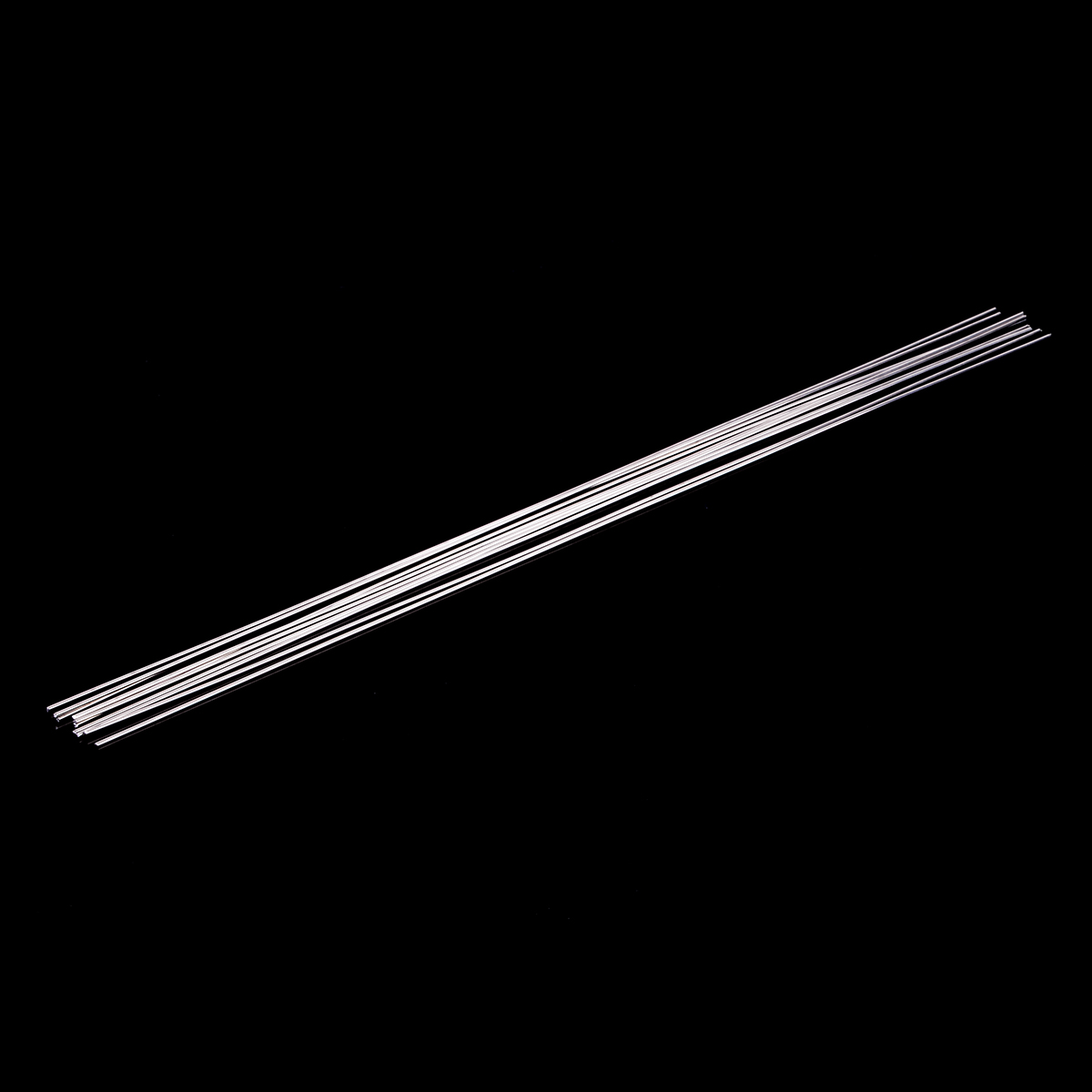 10pcs Metal Aluminum Welding Rod Low Temperature Magnesium Soldering Brazing Stick Rods 1.6mmx45cm Silver