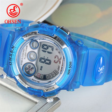 OHSEN Outdoor Sports Watch Children Alarm Clock Waterproof Multifunctional Watches LED Display Shock Digital Watch reloj hombre(China)