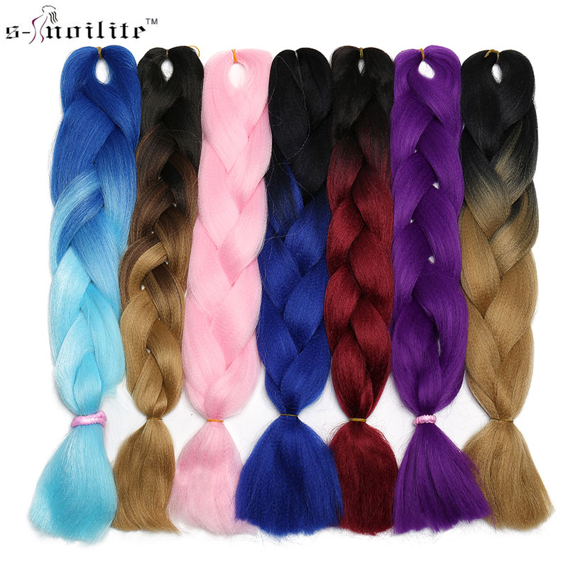 Snoilite 24inch Jumbo Braid Hair Kanekalon Synthetic Crochet Hair