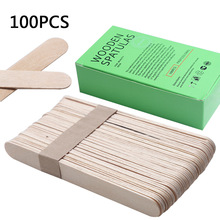100Pcs BigSize Wooden Waxing Wax Spatula Tongue Mask Sticks Disposable Bamboo Sticks Tattoo Wax Medi