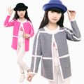 New Arrival 2016 Girls Sweater Children's Cardigan Jacket Wild Spring and Autumn Round Neck Long Sleeve Knit Cardigan Girl