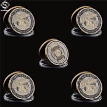 5PCS Ufficiale di Polizia Moneta di Bronzo Saint Michael Patronale di Forze dell'ordine Sfida Moneta USA