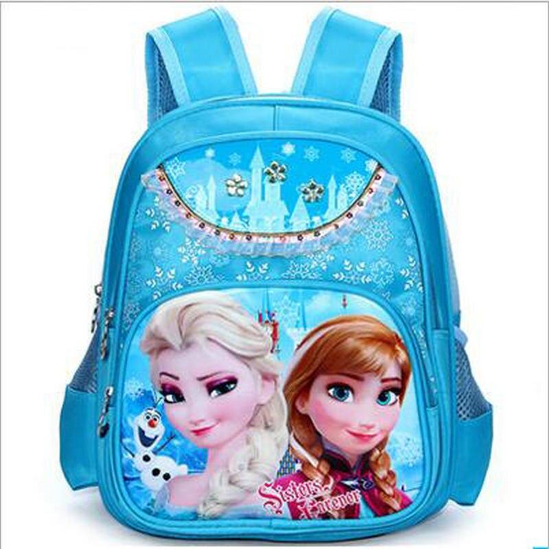 Girls School Bags Princess Elsa Schoolbags Children font b Backpack b font font b kids b