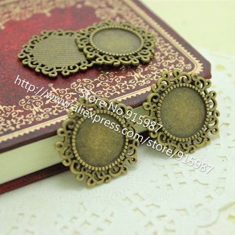Sweet Bell 30pcs/lot Vintage Bronze Round Photo Charm Pendant Jewelry Findings & Components 14mm Fit Jewelry Diy D0033