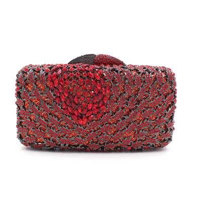 Новый Серебряный/красный/золото/синий/белый Кристалл бисера клатч Свадебные день клатчи партии ужин кошелек цепи сумки