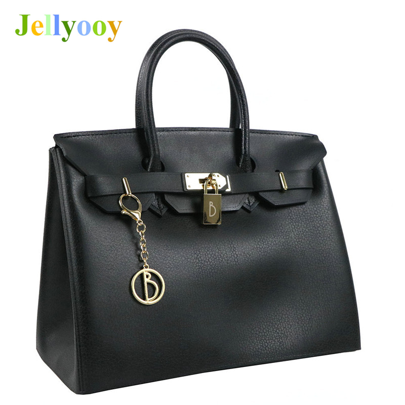 Luxury Handbags Women Bag Designer Purse Bolsa Female Summer Waterproof PVC Beach Bags Jelly Bag Tote Locks Shoulder Bag Channel jinqiaoer nylon summer beach bag designer handbags high quality women tote bag waterproof shoulder bags with coin purse