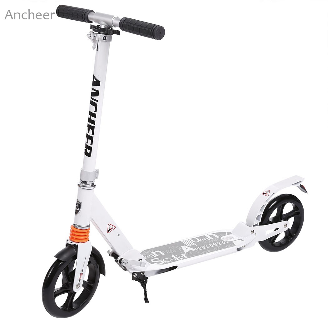 New Ancheer Scooter Sturdy Lightweight Height Kick Scooters Adjustable Aluminum Alloy T-Style Foldable Adults Foot Scooters child skateboard car foot scooters breaststroke scooter kick scooters children best birthday gift tb331116