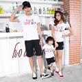 2017 nueva coincidencia de madre e hija de ropa para niños de algodón de manga corta t-shirt de impresión tee familia padre madre del bebé clothing