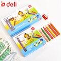 Deli 6/12 шт цветной карандаш  толстый стержень для студентов  набор карандашей для рисования  канцелярские товары  Детские карандаши для каран...